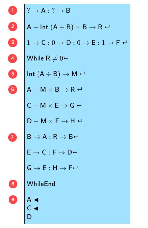 Algorithme coefficients de Bezout-schoolmouv-terminale-s