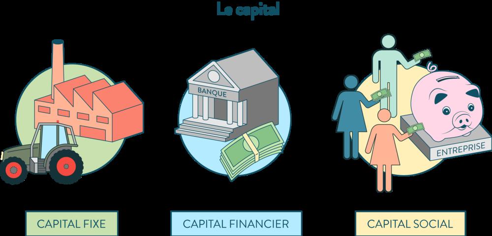 ses première les différents capitaux capital fixe capital financier capital social