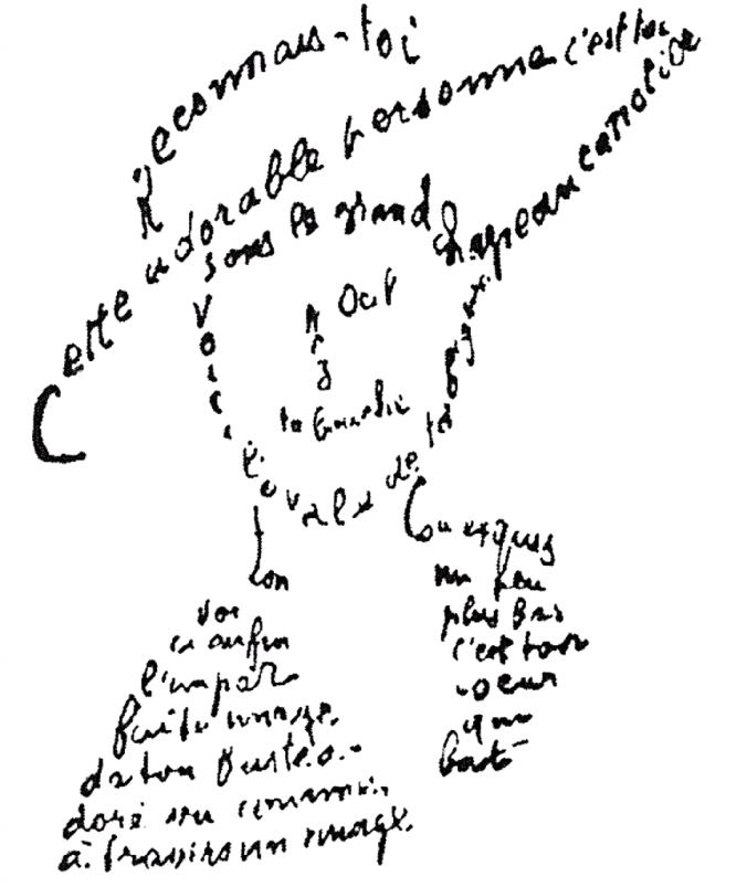 Guillaume Apollinaire, extrait du poème du 9 février 1915, Poèmes à Lou