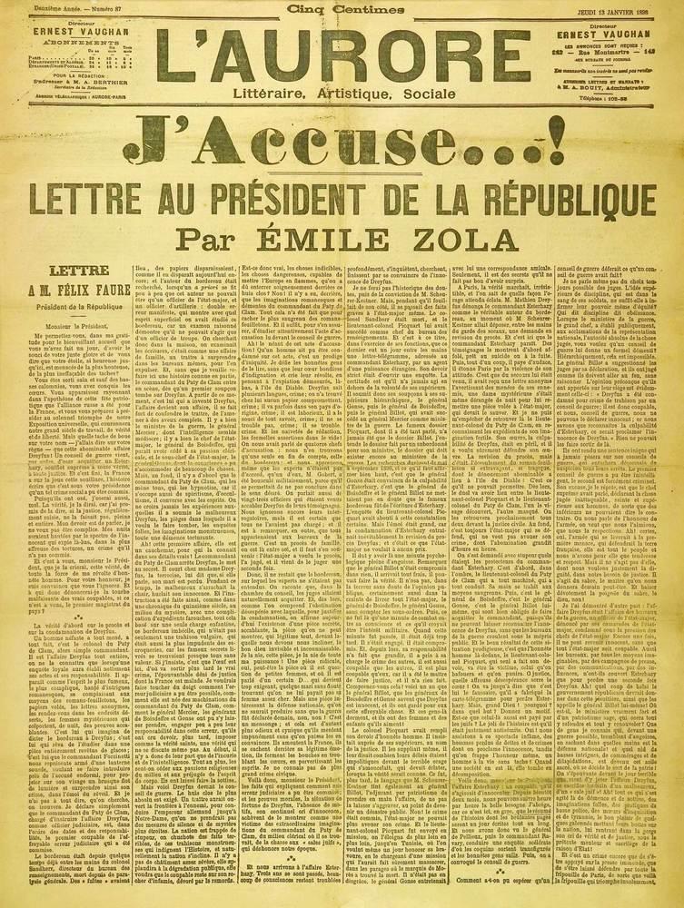 """Alt """"J'accuse"""", par Émile Zola"""