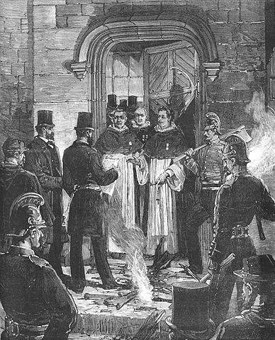 Expulsion des dominicains rue Jean de Beauvais