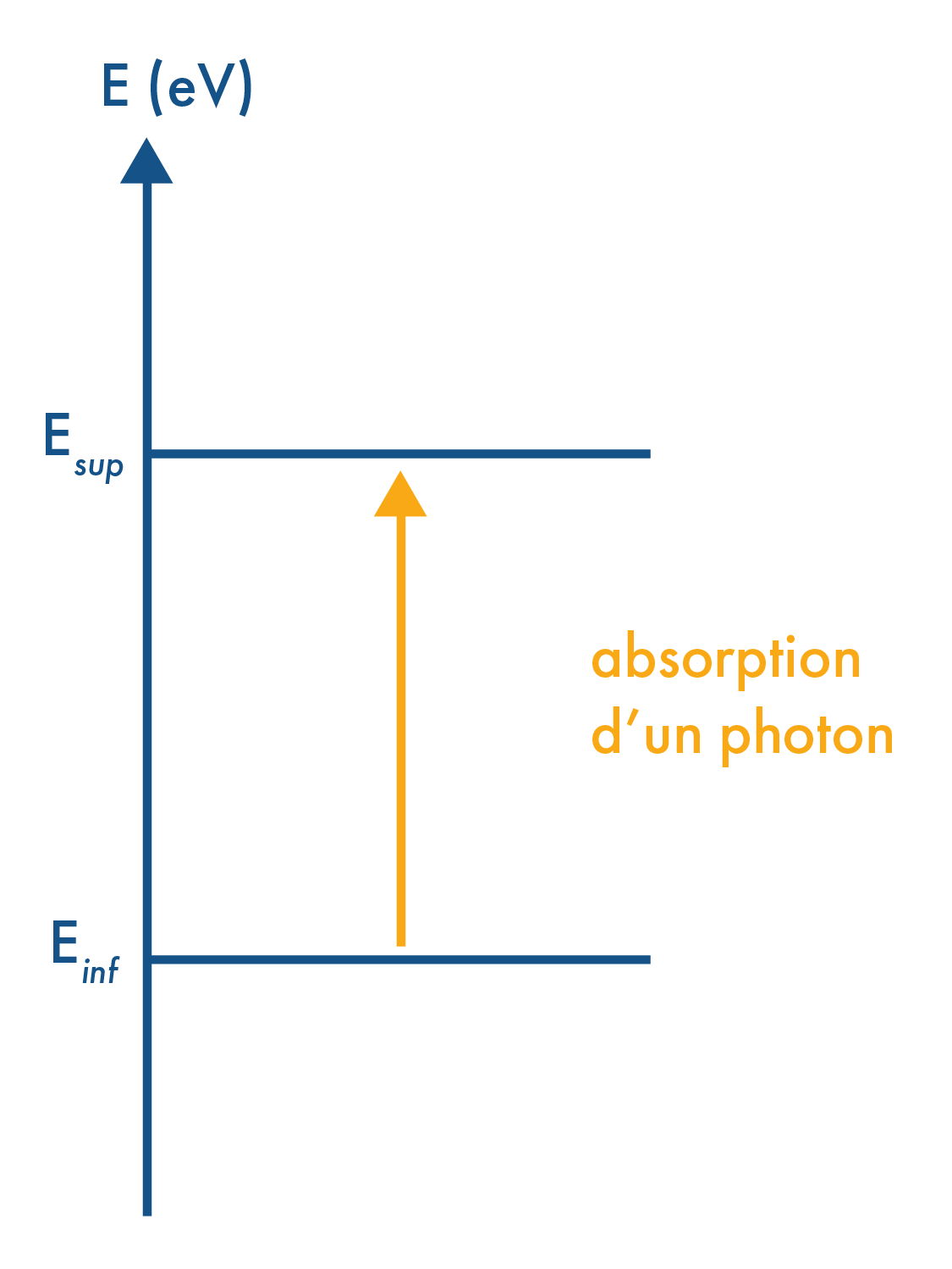 Excitation d'un atome par absorption d'un photon