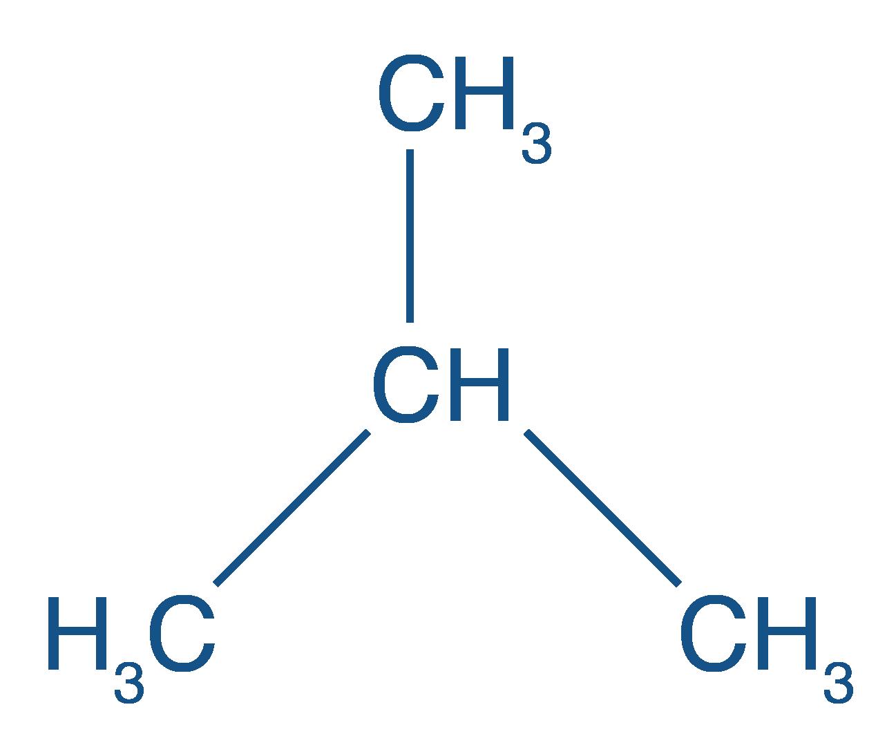 Formule développée du méthylpropane