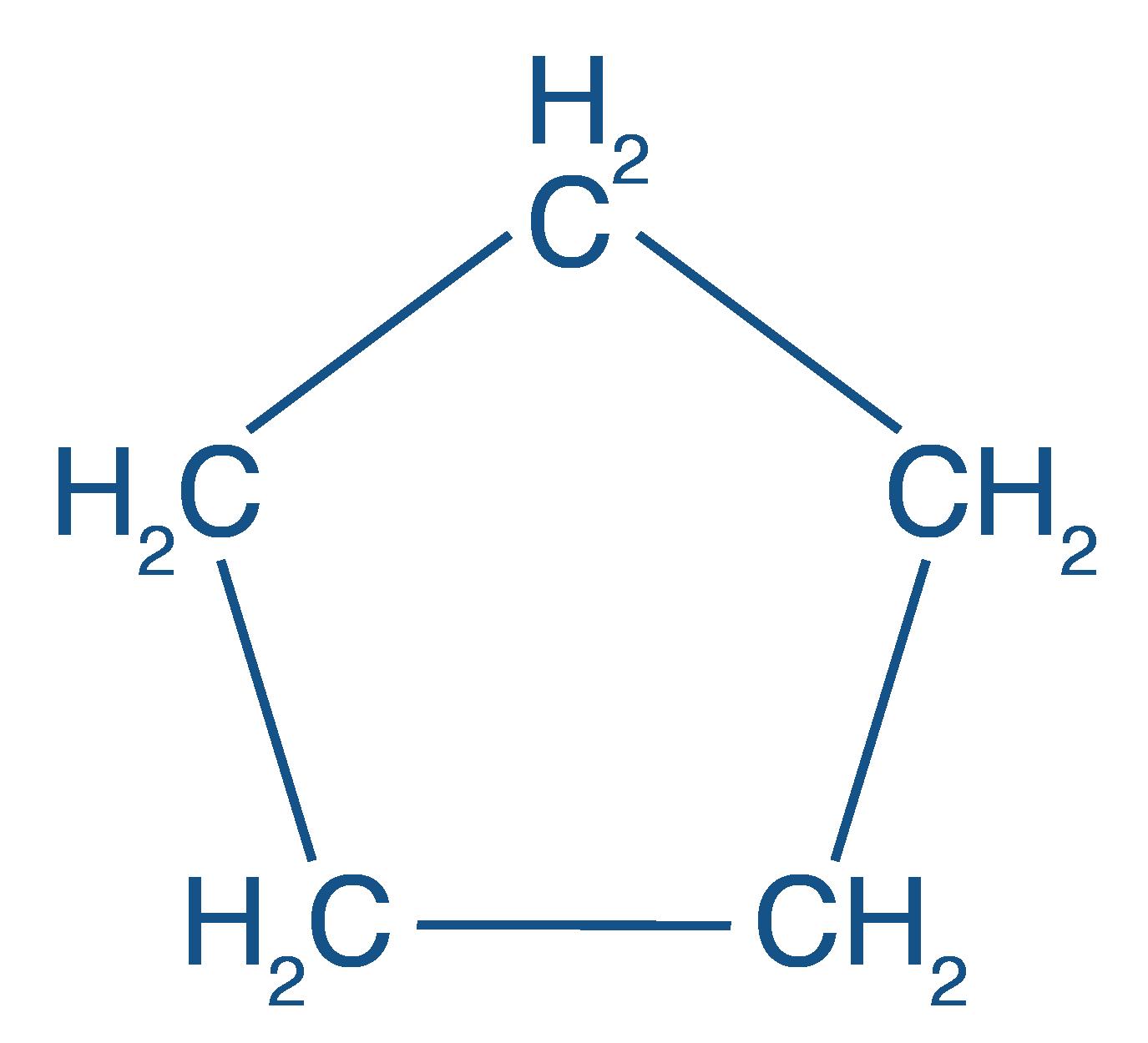 Formule développée du cyclopentane