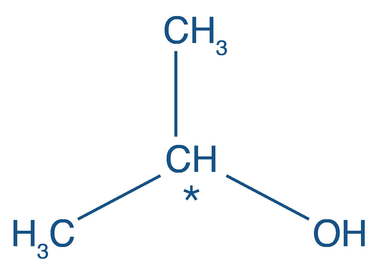 Formule développée du propan-2-ol