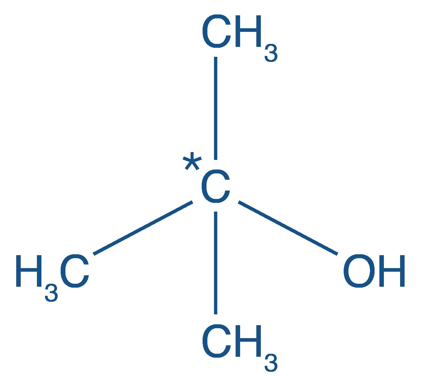 Formule développée du méthylpropan-2-ol