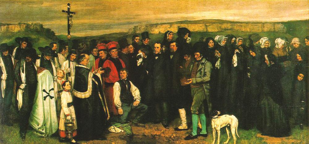 Alt Un enterrement à Ornans, Gustave Courbet, 1849-1850