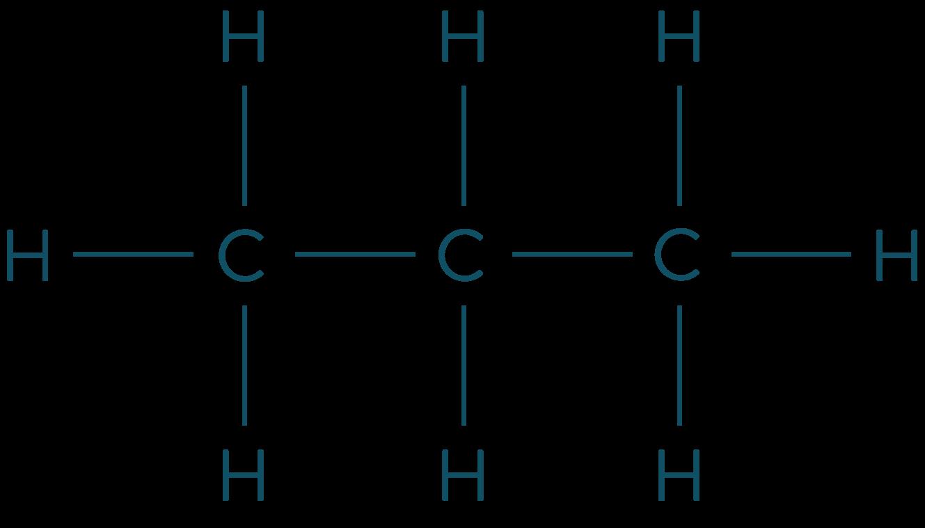 Formule développée du propane physique-chimie seconde