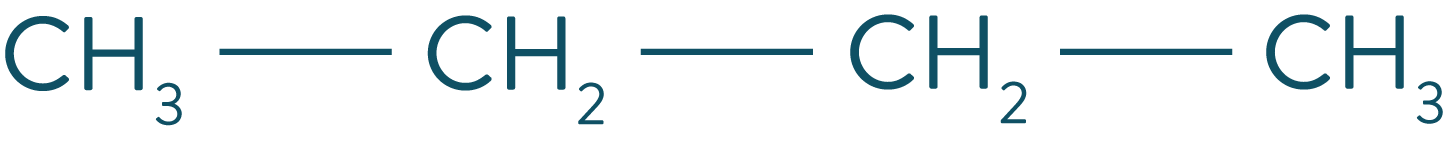 Formule semi-développée du butane