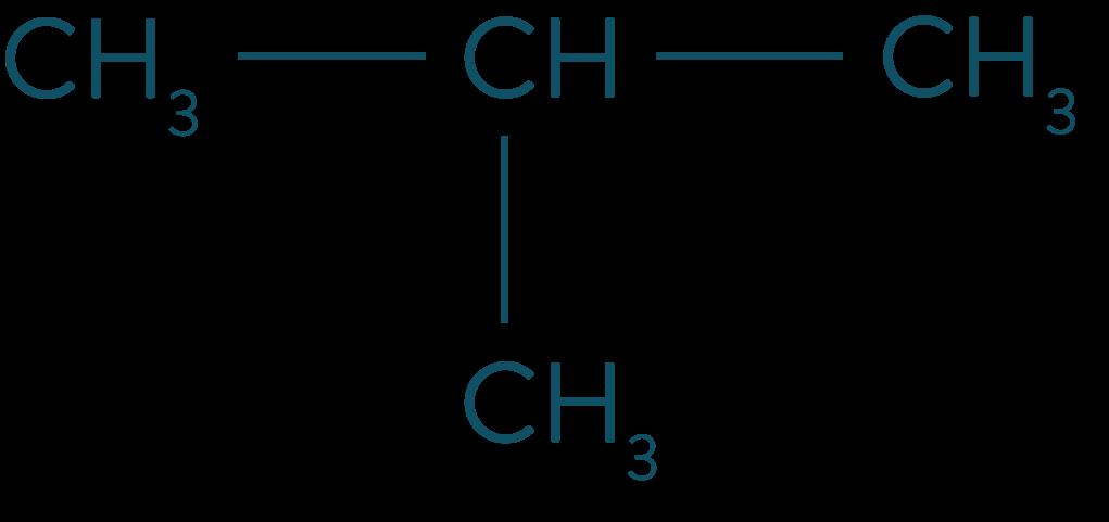 Formule semi-développée du méthylpropane