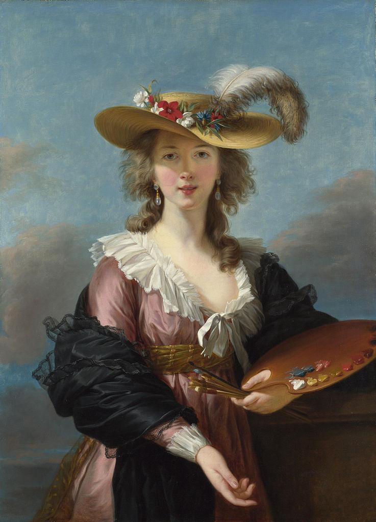 Autoportrait au chapeau de paille, Élisabeth Vigée-Lebrun, 1782