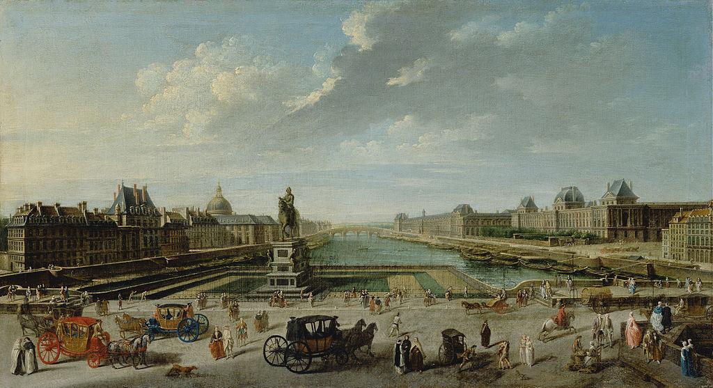 Une vue de Paris depuis le Pont-Neuf, Nicolas Jean-Baptiste Raguenet, 1763