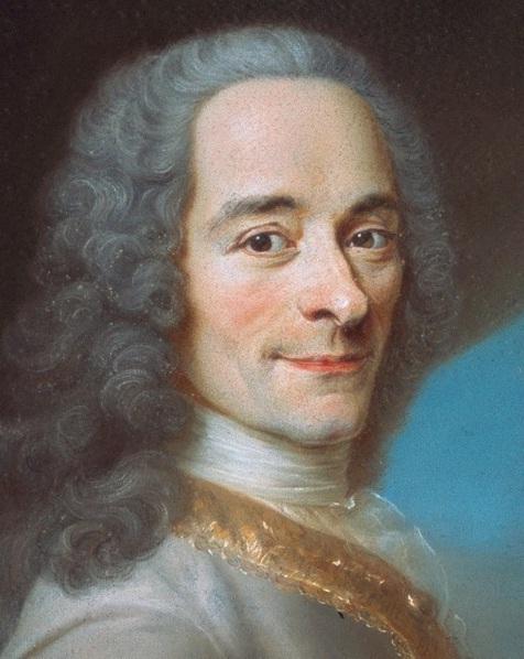 Portrait de Voltaired'après Maurice Quentin de La Tour (vers 1736)
