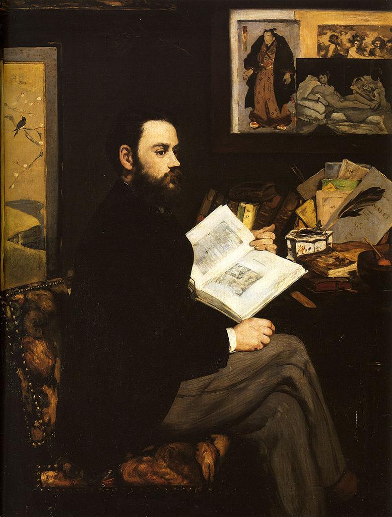 Portrait d'Émile Zola par Édouard Manet, 1868