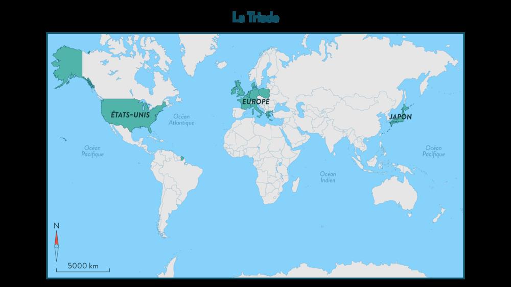 États-Unis, Japon, Europe: la Triade - géographie 3e