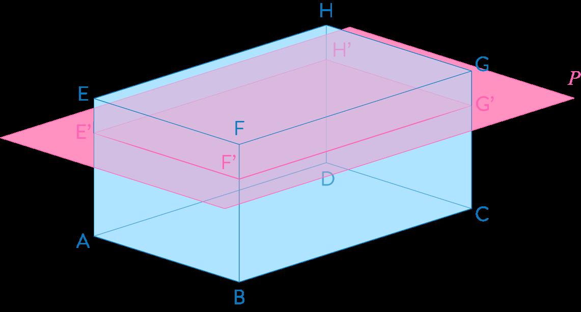 Section d'un pavé droit par un plan mathématiques troisième