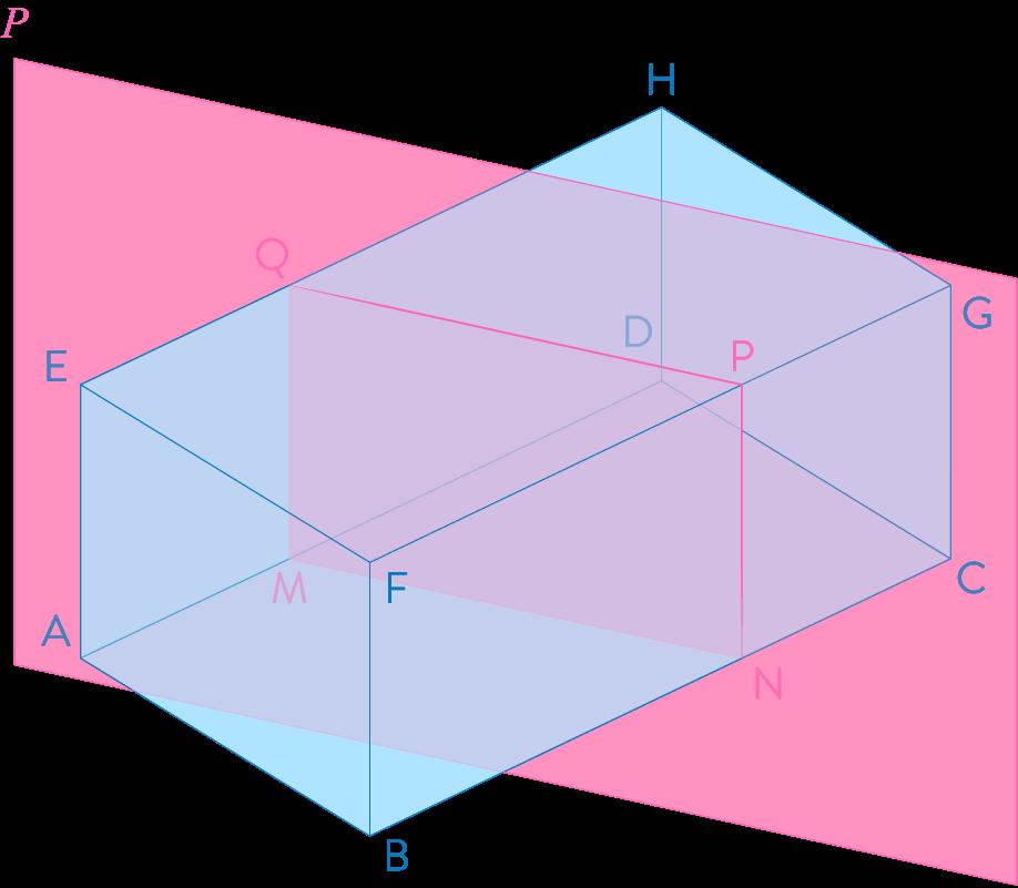 Section d'un pavé droit par un plan parallèle à l'une de ses arêtes mathématiques troisième