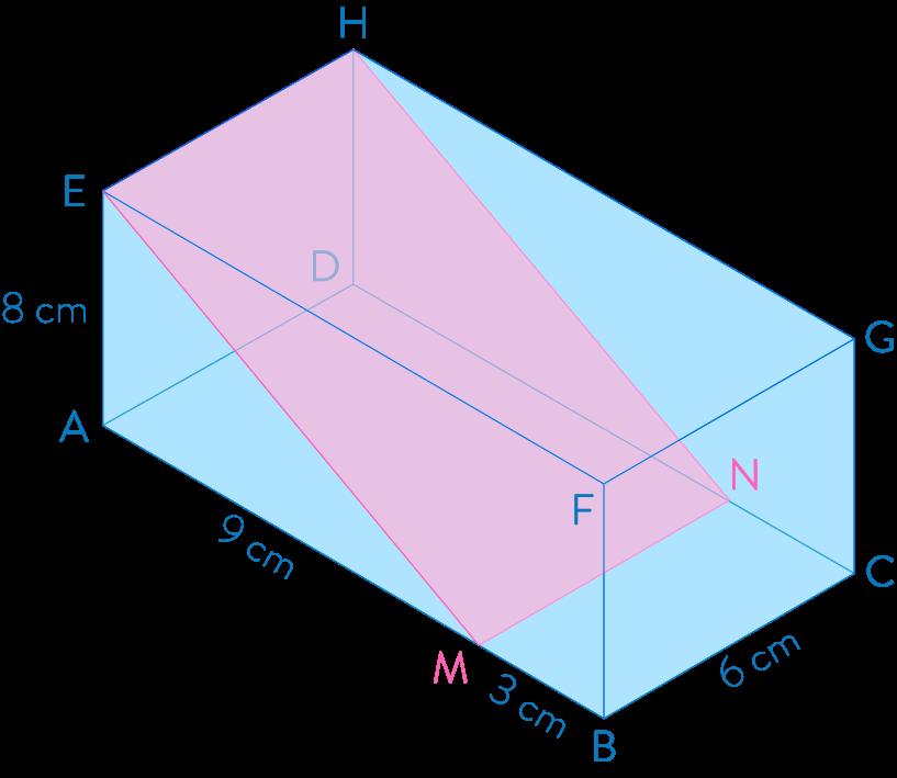 Section d'un pavé droit par un plan parallèle à une de ses arêtes mathématiques troisième