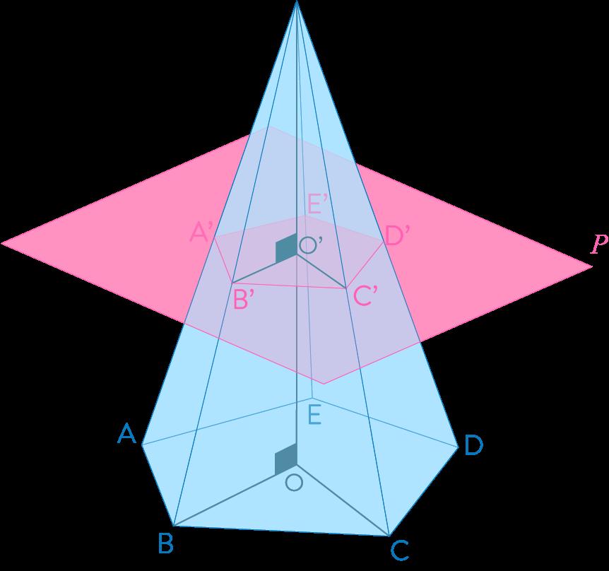 Section d'une pyramide par un plan parallèle à sa base mathématiques troisième