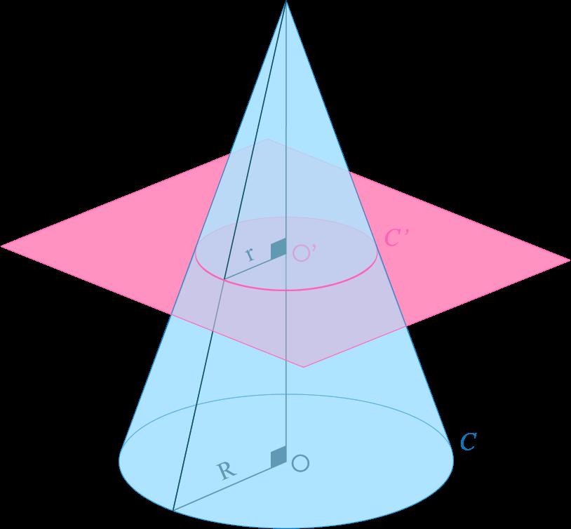 Section d'un cône par un plan parallèle à sa base mathématiques troisième