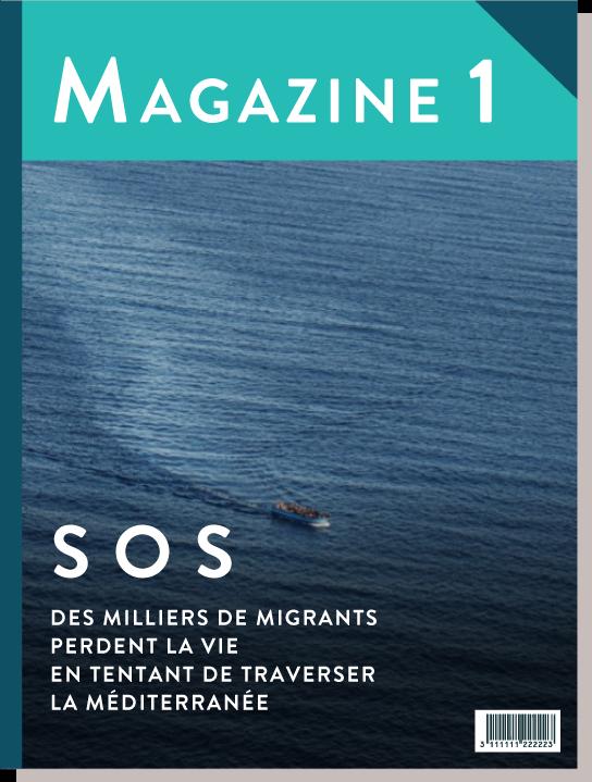 Une de magazine, ©Alfredo D'Amato / UNHCR français 4e