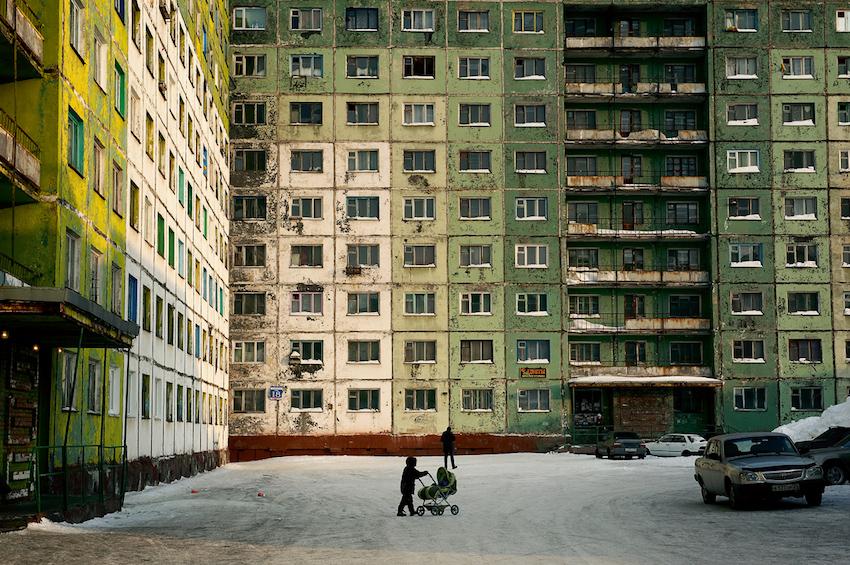 Immeubles de Norilsk, ©Elena Chernyshova, 2011