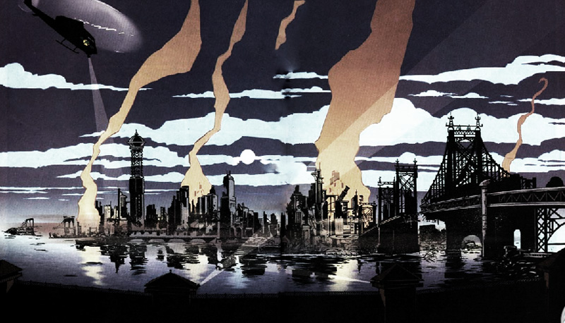 Batman: No man's land<em>, Tome 1, Bob gale (scénario), Alex Maleev (dessinateur), 2014, ©DC Classics