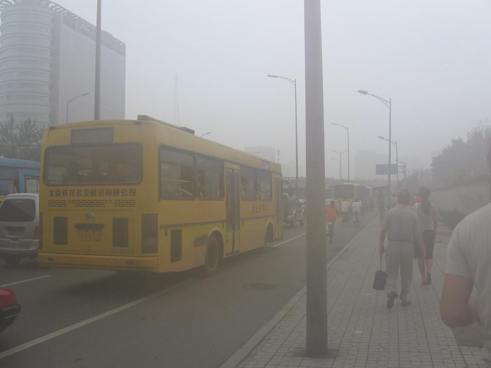 Alt La pollution de l'air à Pékin. © Berserkerus