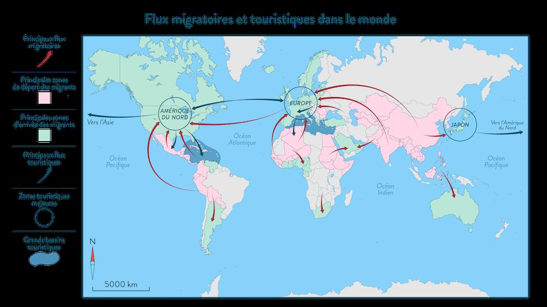 Un monde de migrants exercice géographie quatrième