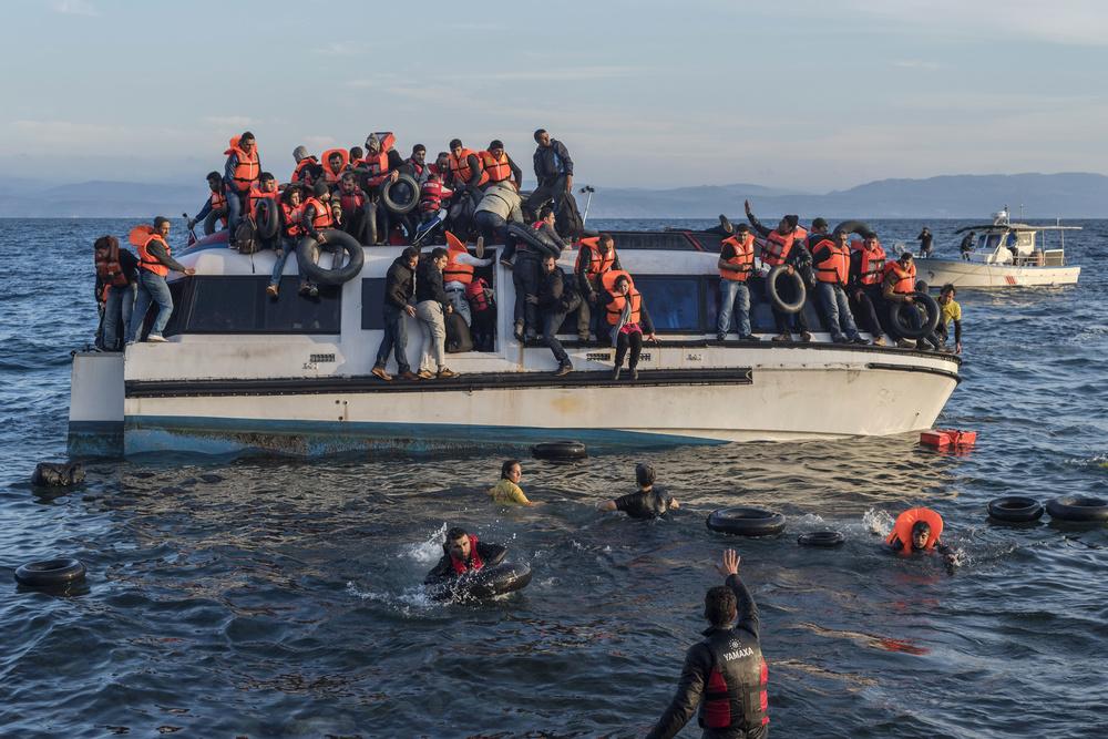 Alt Migrants syriens et irakiens arrivant en Grèce - cc (creative commons) Ggia