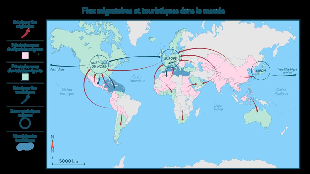 Alt Les flux migratoires et touristiques dans le monde
