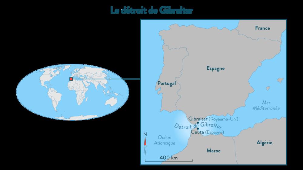 Alt Le détroit de Gibraltar