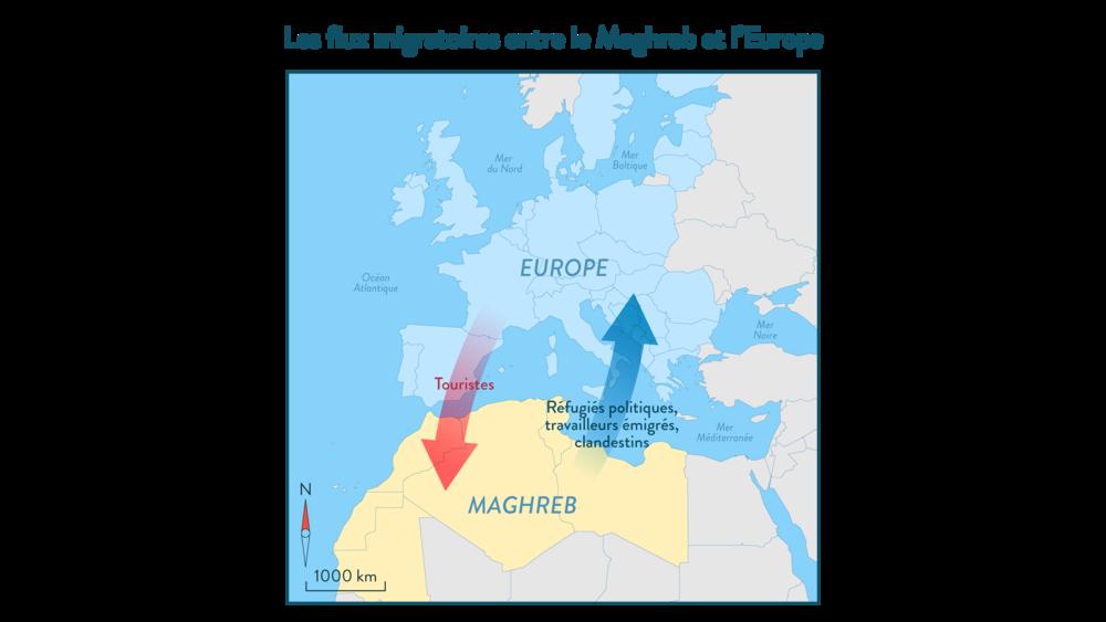 Alt Les flux migratoires entre le Maghreb et l'Europe