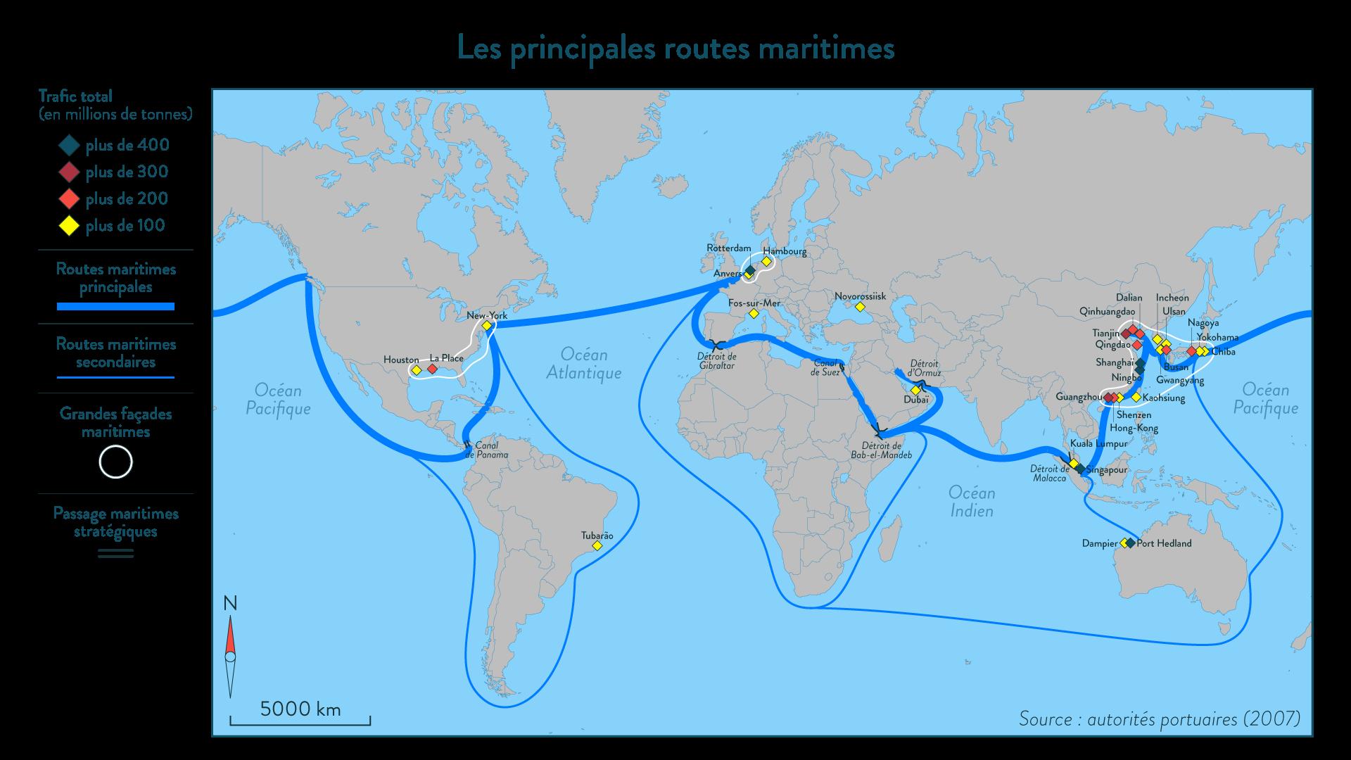 Alt Les principales routes maritimes