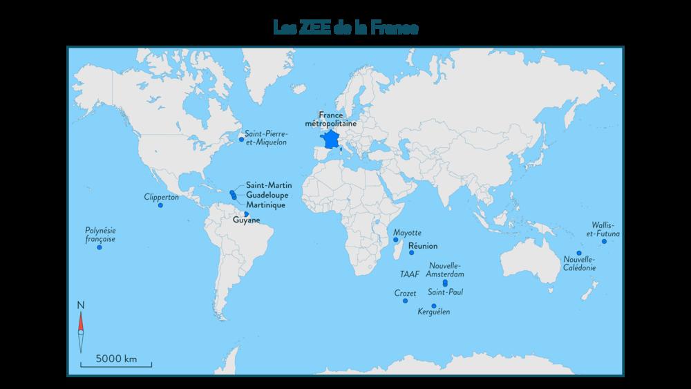 Alt Les ZEE de la France