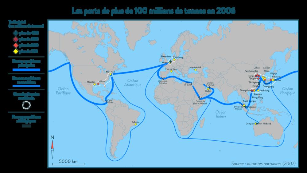 Alt Les ports de plus de100millions de tonnes