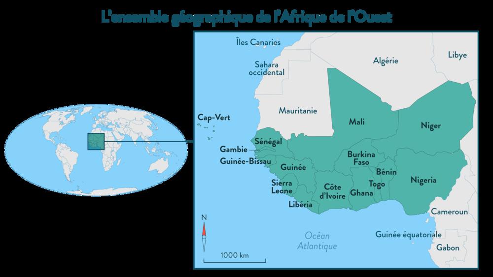 Alt L'ensemble géographique de l'Afrique de l'Ouest