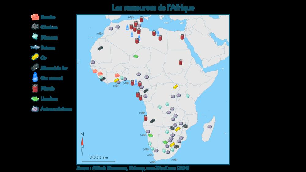 Carte Afrique Ressources Naturelles.Les Dynamiques Du Continent Africain L Exemple De L