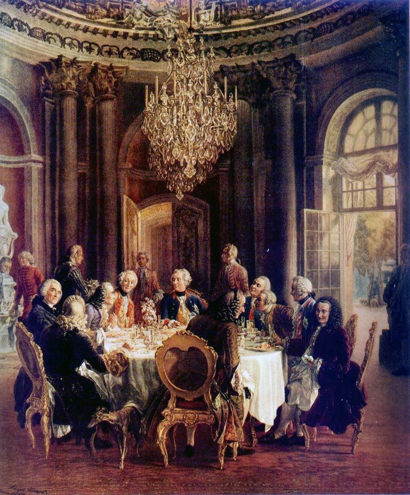 Alt La table ronde, Adolph Von Menzel, ,1850
