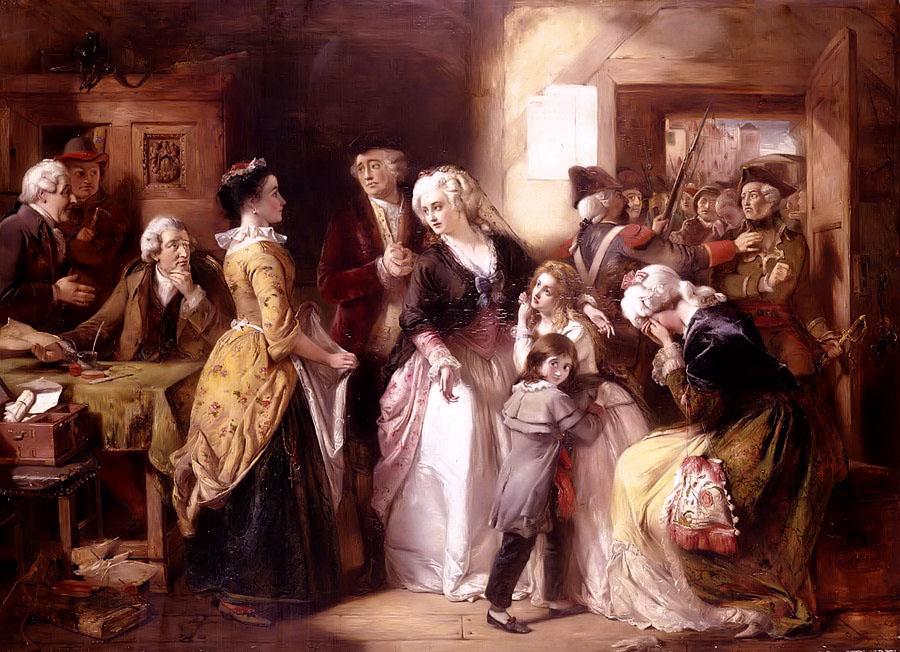 Alt L'arrestation du Roi et de sa famille à Varennes, Thomas Falcon Marshall,1854
