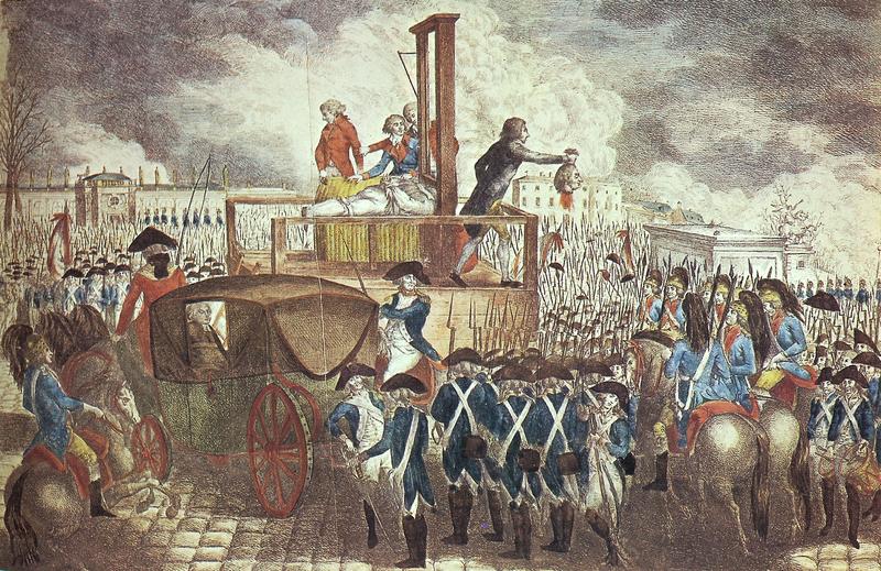 Alt Exécution de Louis XVI, Georg Heinrich Sieveking, gravure allemande, 1793