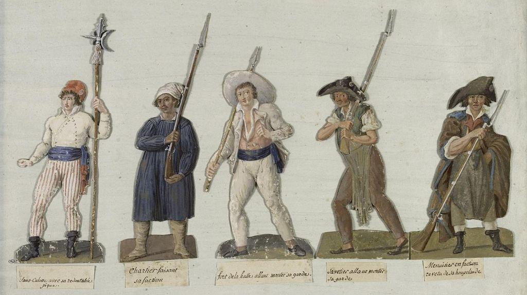 Sans-culotte en armes, gouache de J.-B. Lesueur, 1789, musée Carnavalet, Paris