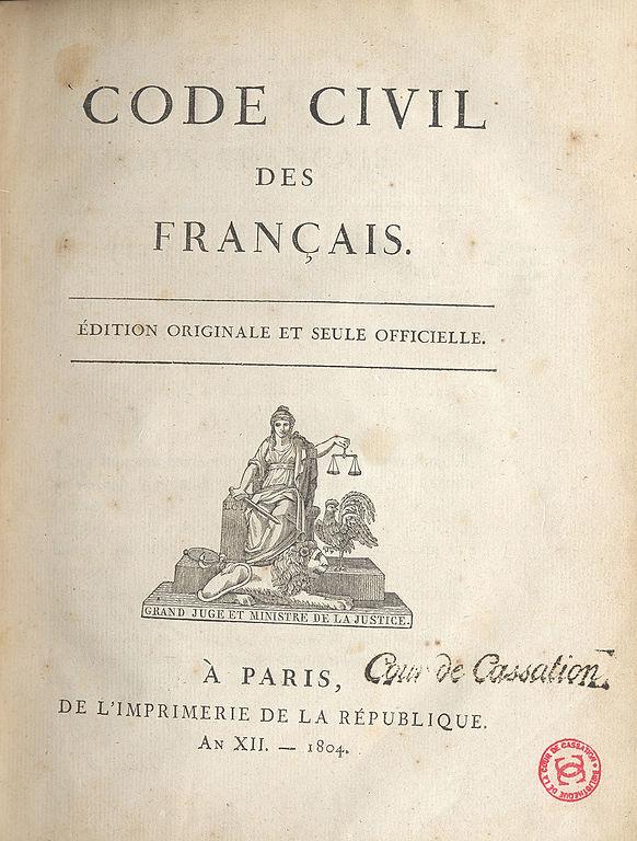 Alt Code civil,1804