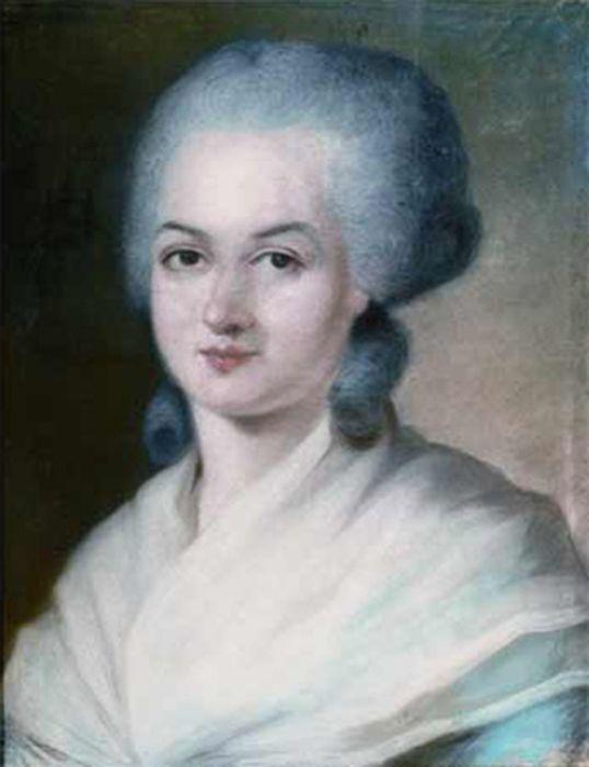 Alt Portrait d'Olympe de Gouges, Alexandre Kucharski , XVIII<sup>e</sup>siècle