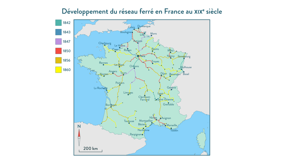 Alt Développement du réseau ferré en France au XIXe siècle