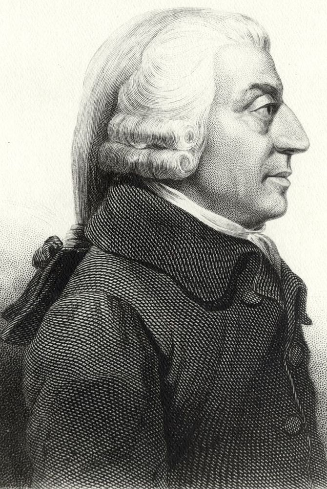 Alt Portrait d'Adam Smith, James Tassie, 1854