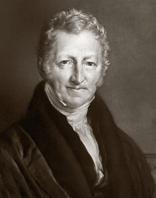 Alt Portrait de l'économiste Thomas Malthus,1833