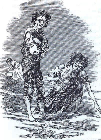 Alt Illustration de la Grande Famine en Irlande. James Mahony, The Illustrated London News, 1847