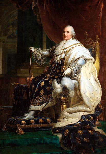 Alt Louis XVIII en costume de sacre