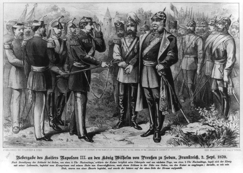 Alt Reddition de l'empereur NapoléonIII au roi Wilhelm de Prusse à Sedan le 2septembre1870
